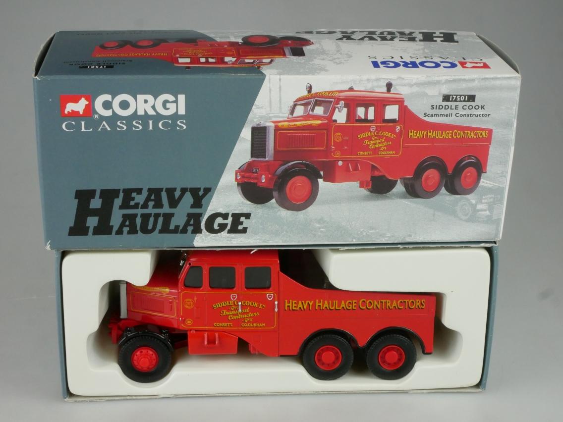 Corgi Classics 17501 Scammell Constr. Siddle Cook Heavy Haulage 1/50 +Box 516072