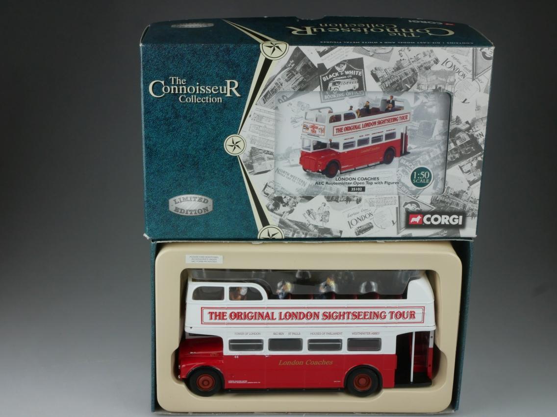 Corgi 35102 London Coach Bus AEC Roadmaster Open Top Connoisseur 1/50 Box 516078