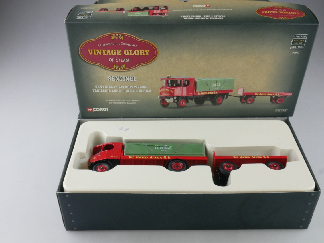Corgi 80007 Sentinel Truck & Trailer Africa Vintage Glory Steam 1/50 +Box 516086
