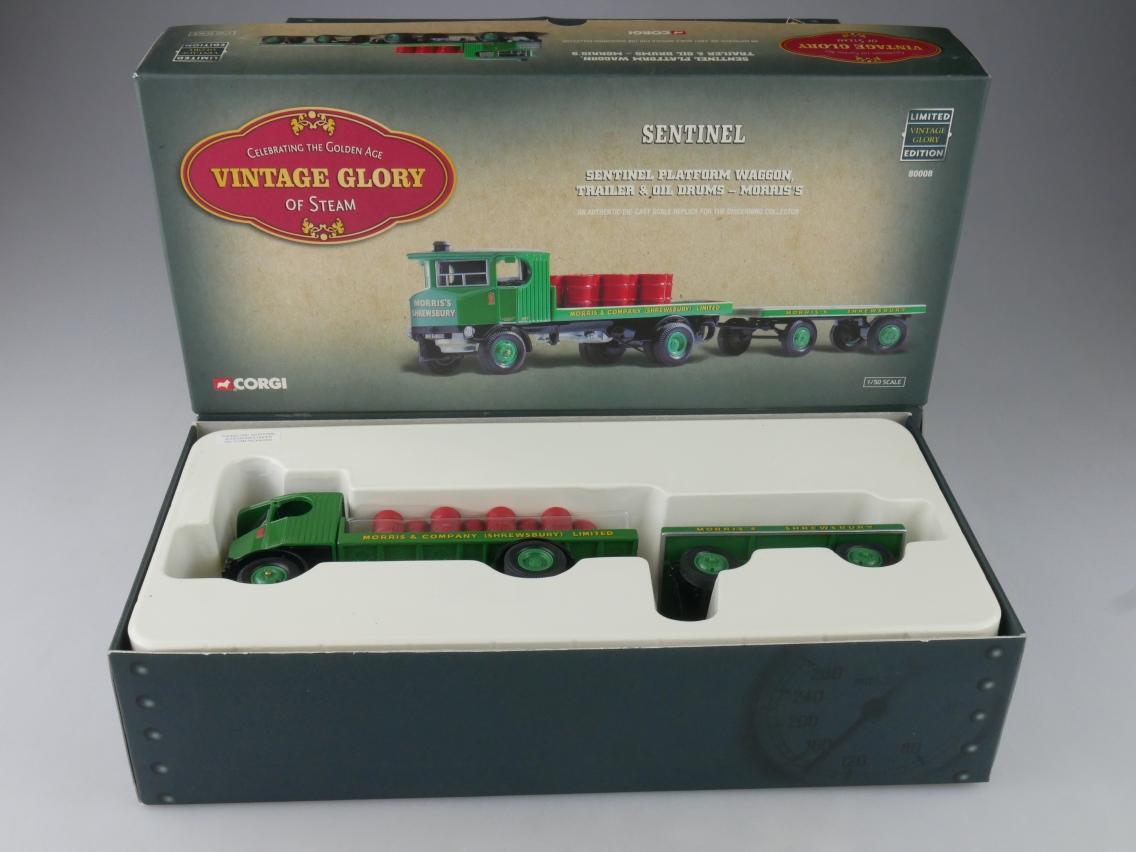 Corgi 80008 Sentinel Truck & Trailer Morris´s Vintage Glory of Steam 1/50 516088