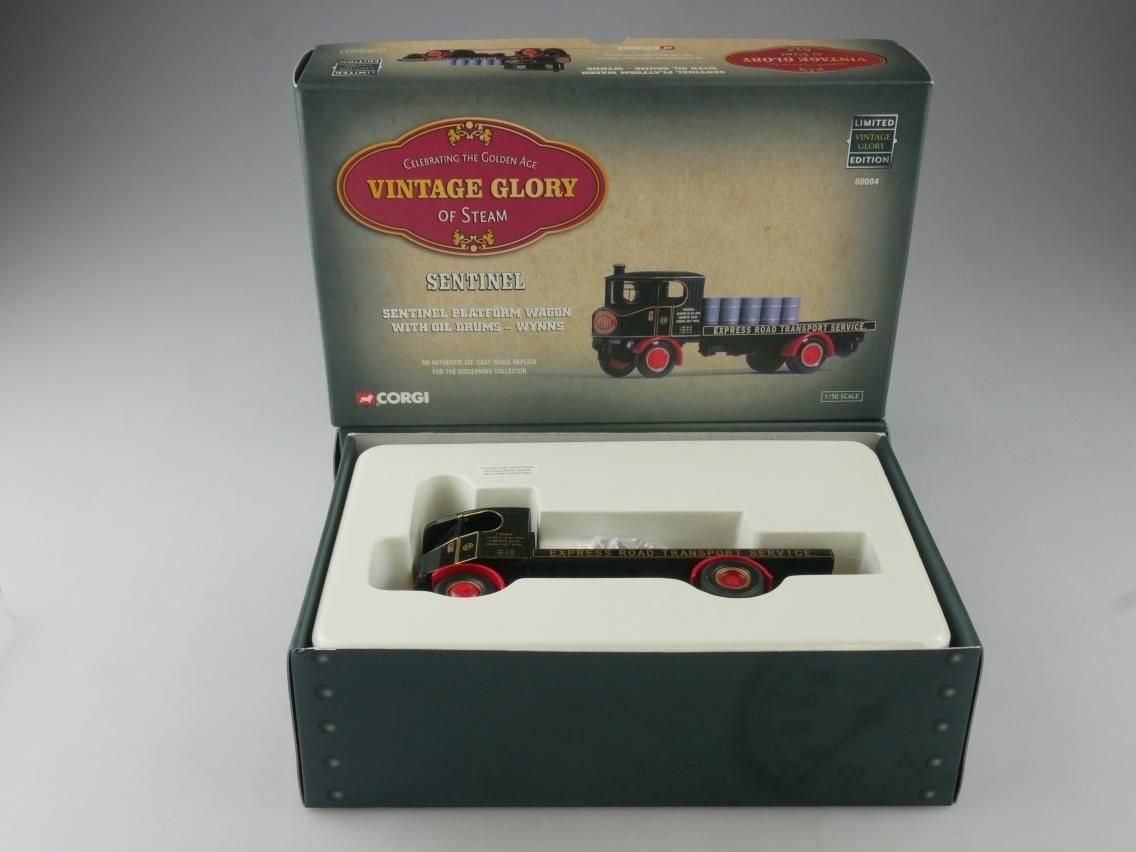 """Corgi 80004 Sentinel Wagon Truck """"Wynns"""" Vintage Glory of Steam 1/50 +Box 516092"""