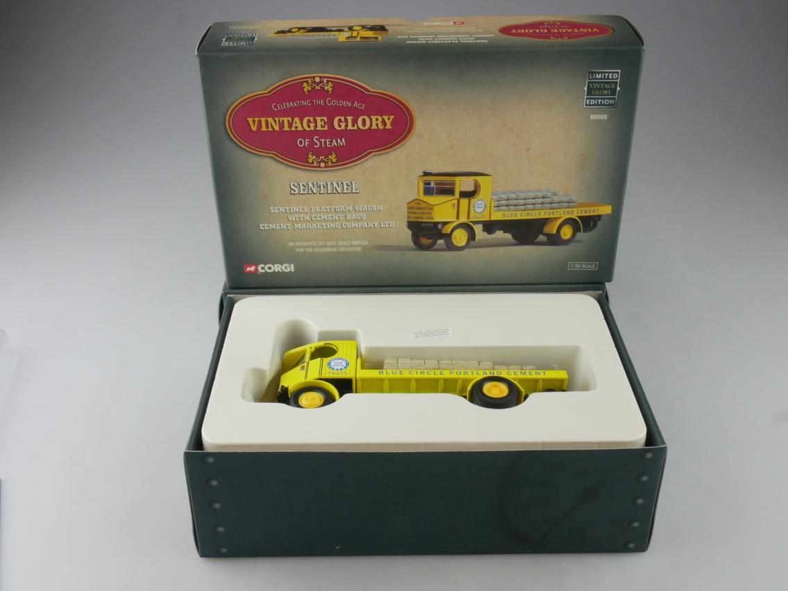Corgi 80005 Sentinel Truck Cement Marketing Vintage Glory Steam 1/50 +Box 516094