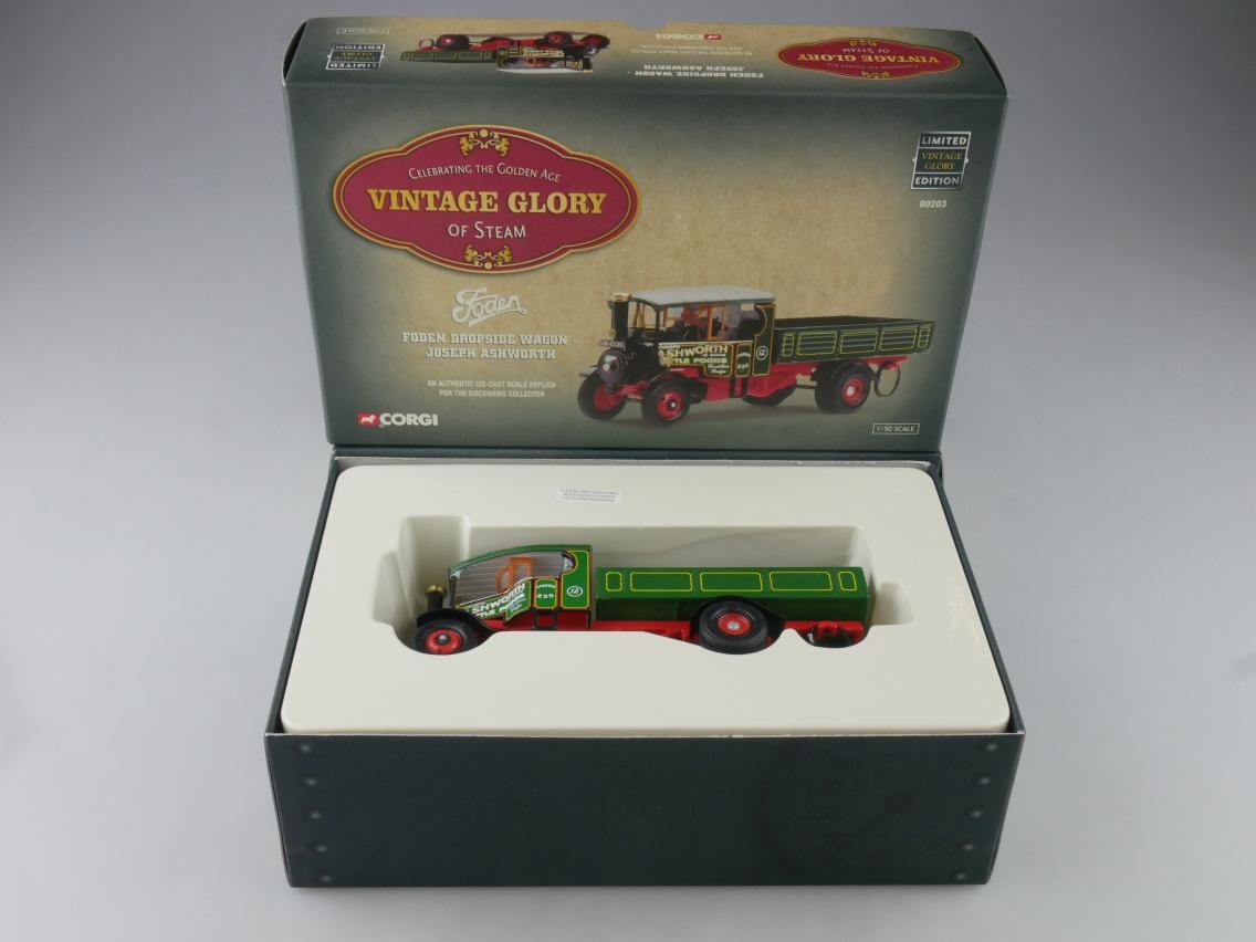Corgi 80203 Foden Wagon Truck Ashworth Vintage Glory of Steam 1/50 + Box 516102
