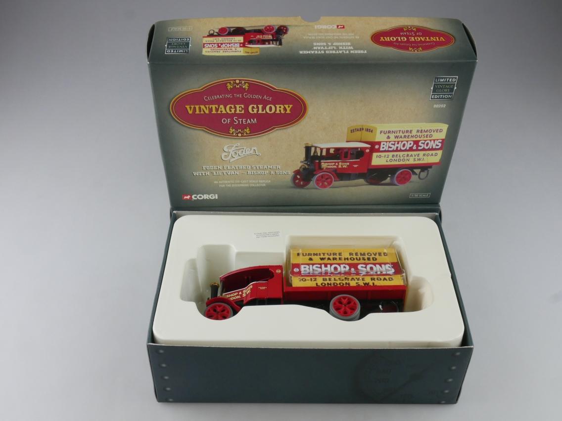 Corgi 80202 Foden Liftvan Truck Bishop & Sons Vintage Glory of Steam 1/50 516105