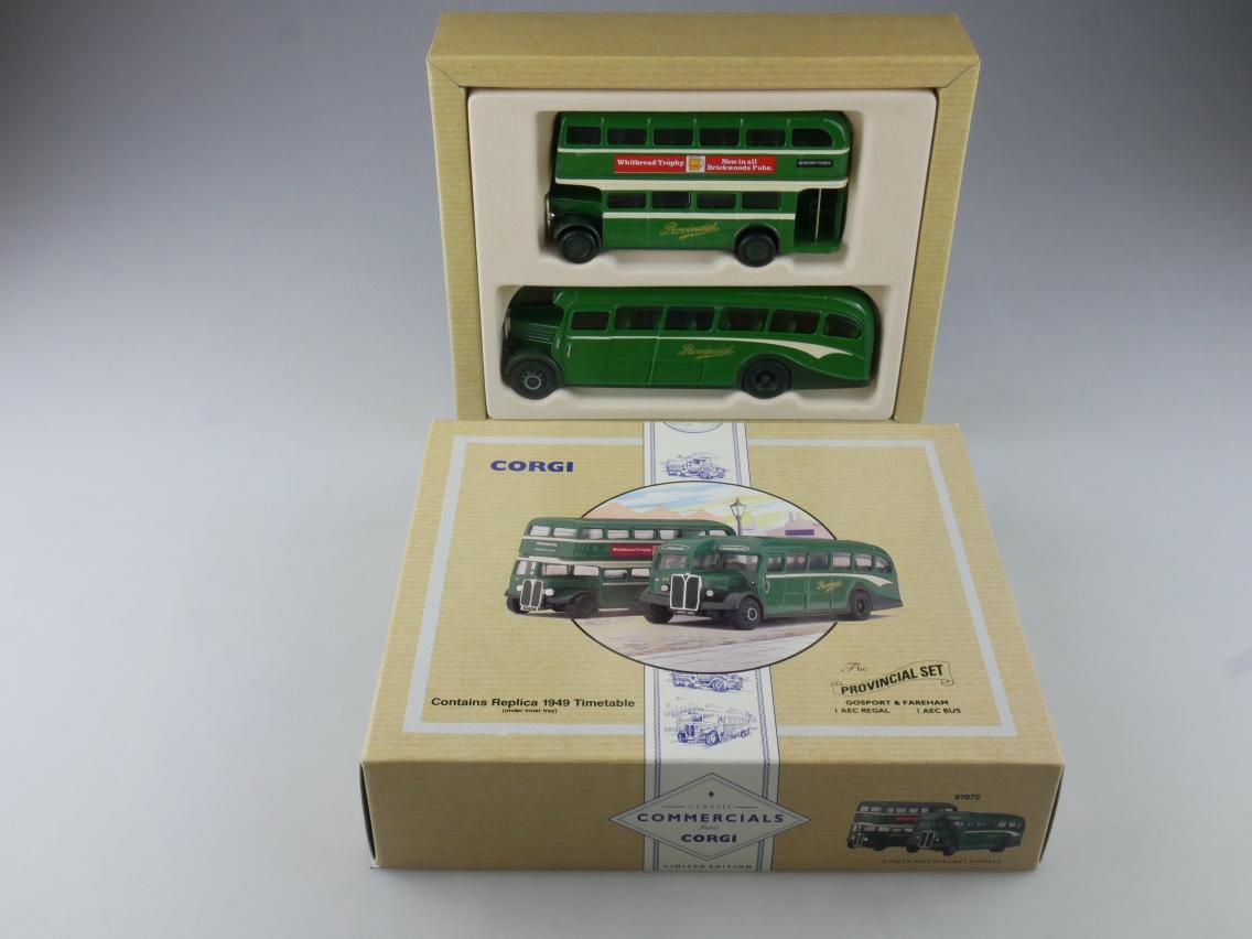 Corgi 97072 AEC Regal & Bus Gosport & Fareham Provincial Set 1/50 + Box 516109