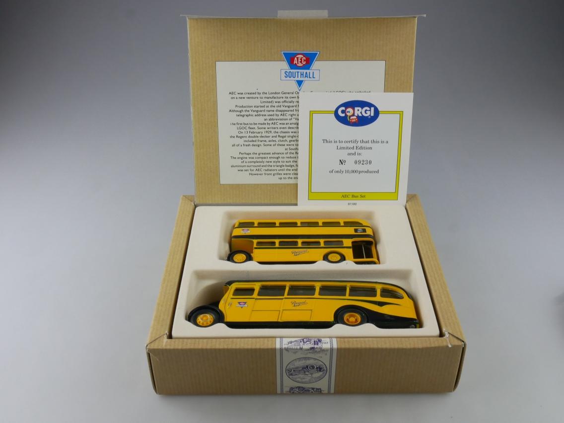 Corgi 96990 AEC Regal & Bus Set yellow gelb Limited Edition 1/50 + Box 516112