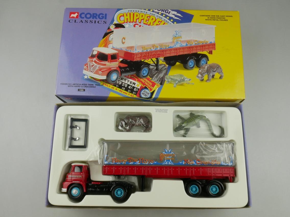 Corgi Classics 14201 Foden S21 Trailer Hippo Crocodile Circus 1/50 + Box 516123