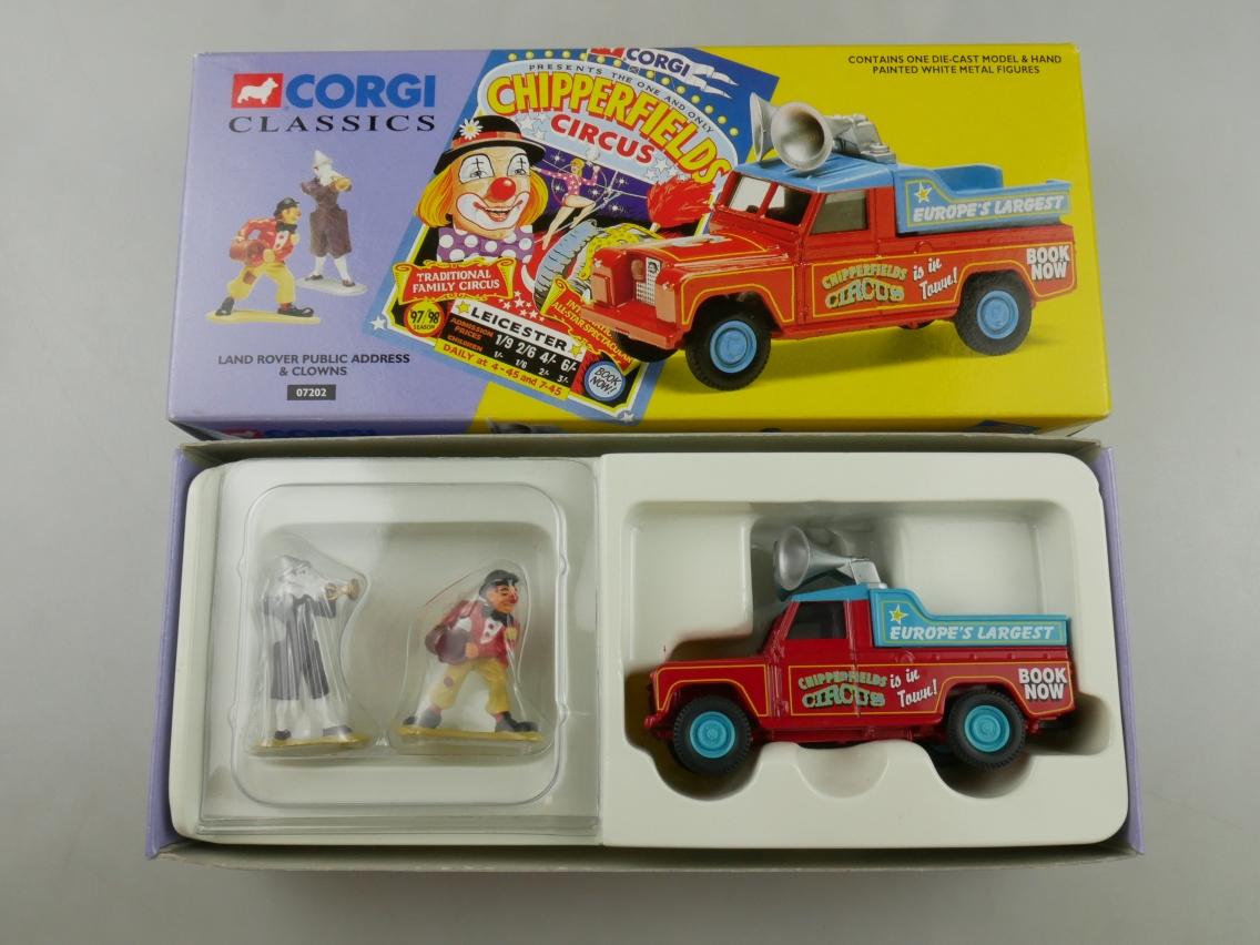 Corgi Classics 07202 Land Rover Clowns Chipperfields Circus 1/50 + Box 516128