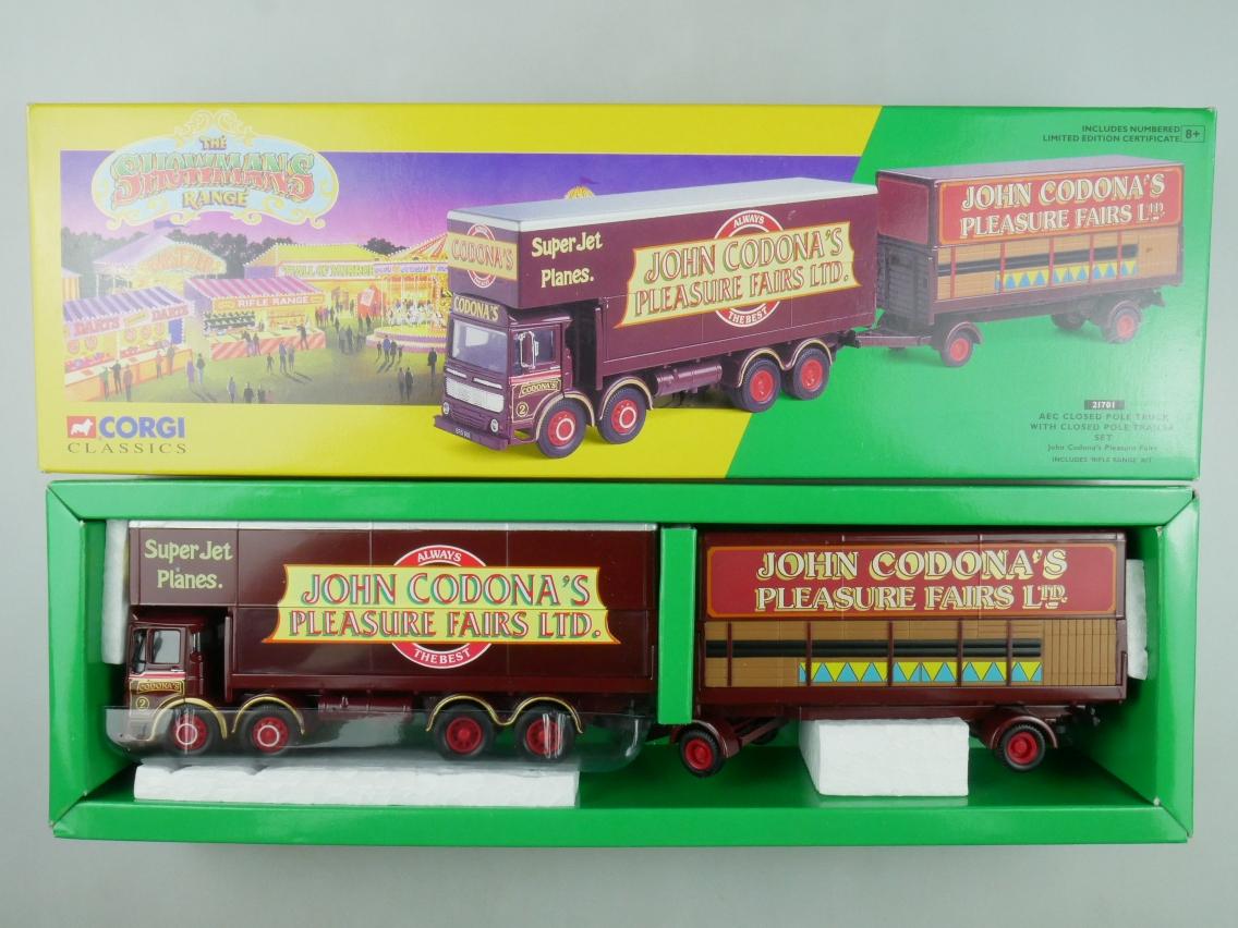Corgi Classics 21701 AEC Pole Truck + Trailer Set Circus Zirkus 1/50 +Box 516139