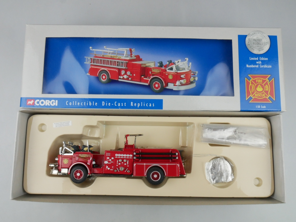 Corgi 51502 American La France Cab Pumper Fire Engine Feuerwehr 1/50 +Box 516148