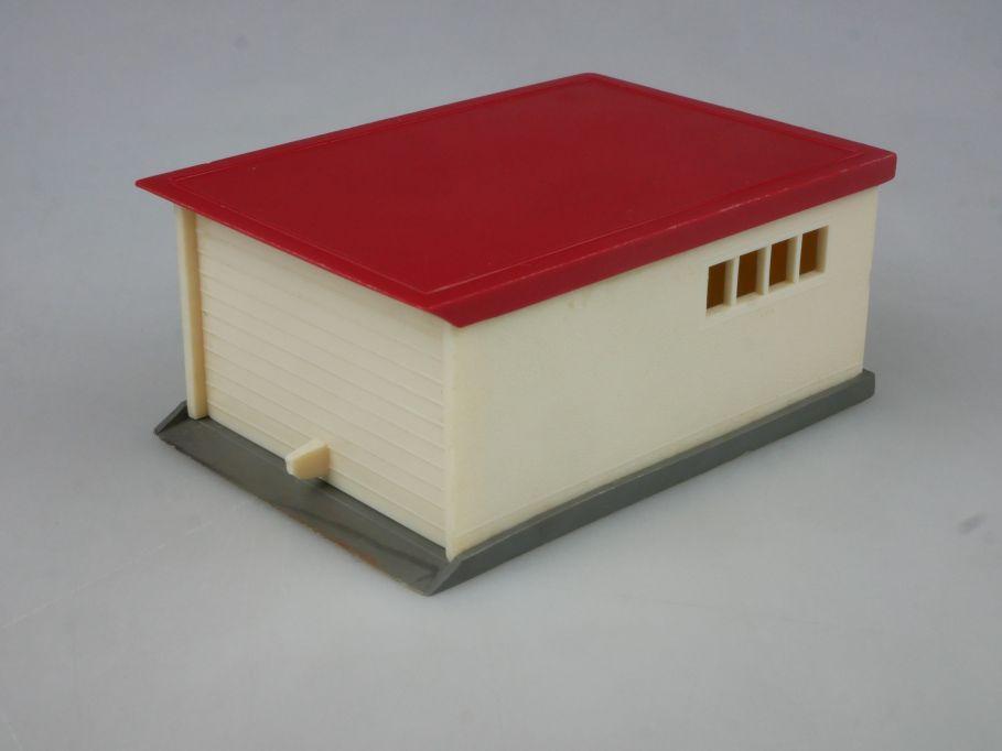 PKW Garage cremeweiß rot Preisschild Saure 1288-4 1/87 Wiking H0 115821