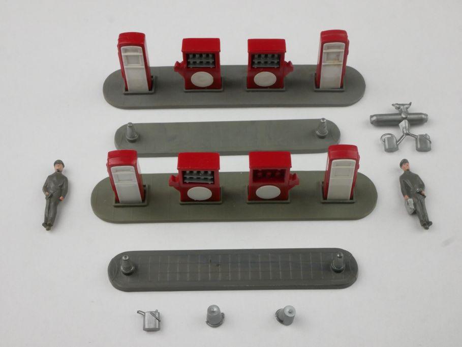 2 kleine Tankstellen rot Zubehör Saure 1283-4 1/87 Wiking H0 115841