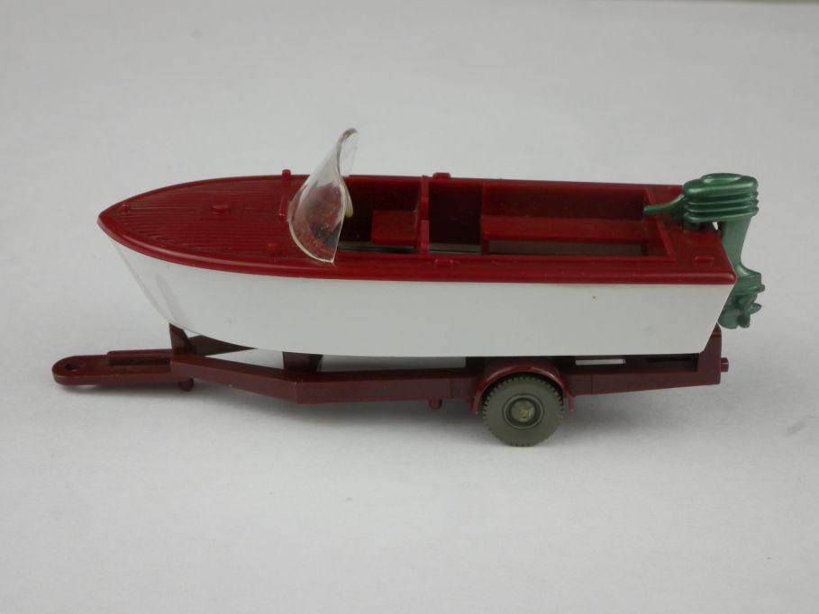Motorboot auf Anhänger weinrot Saure 506-1 A ohne Box 1/87 Wiking H0 115876