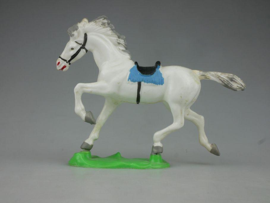DDR Western Cowboy Indianer Pferd Hohlplaste weiß A. Greiner 116749