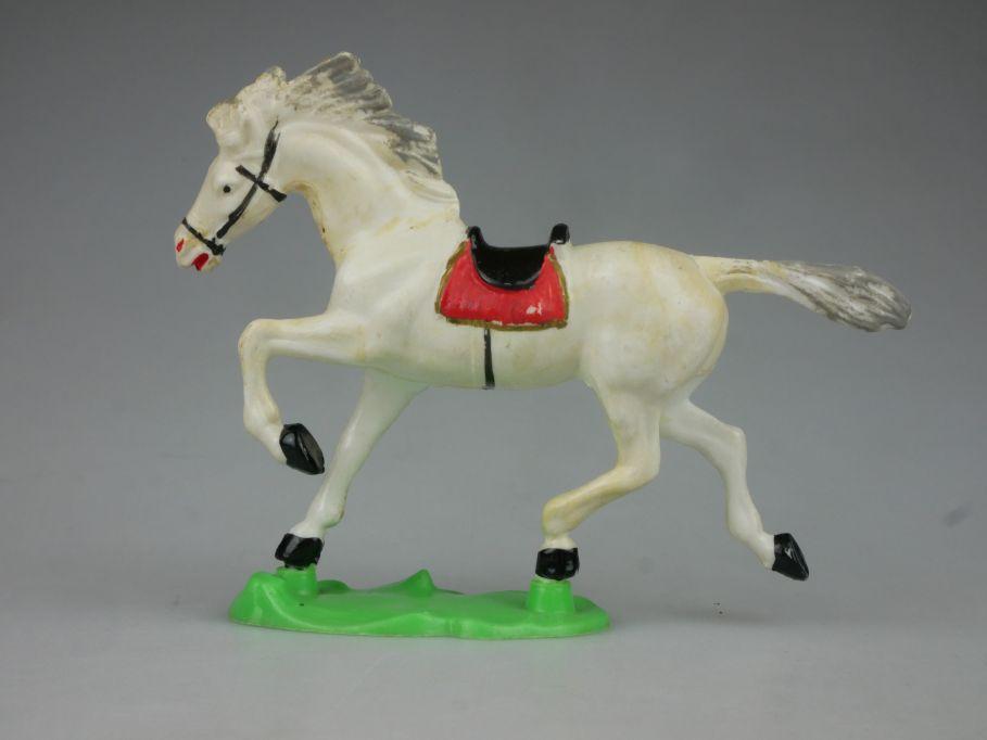 DDR Western Cowboy Indianer Pferd Hohlplaste weiß A. Greiner 116750