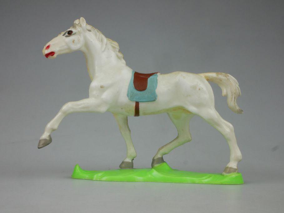 DDR Western Indianer Cowboy Pferd Hohlplaste weiß Lisanto 116766