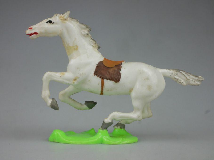 DDR Western Indianer Cowboy Pferd Hohlplaste weiß Lisanto 116767