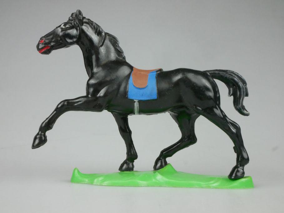DDR Western Indianer Cowboy Pferd Hohlplaste schwarz Lisanto 116768