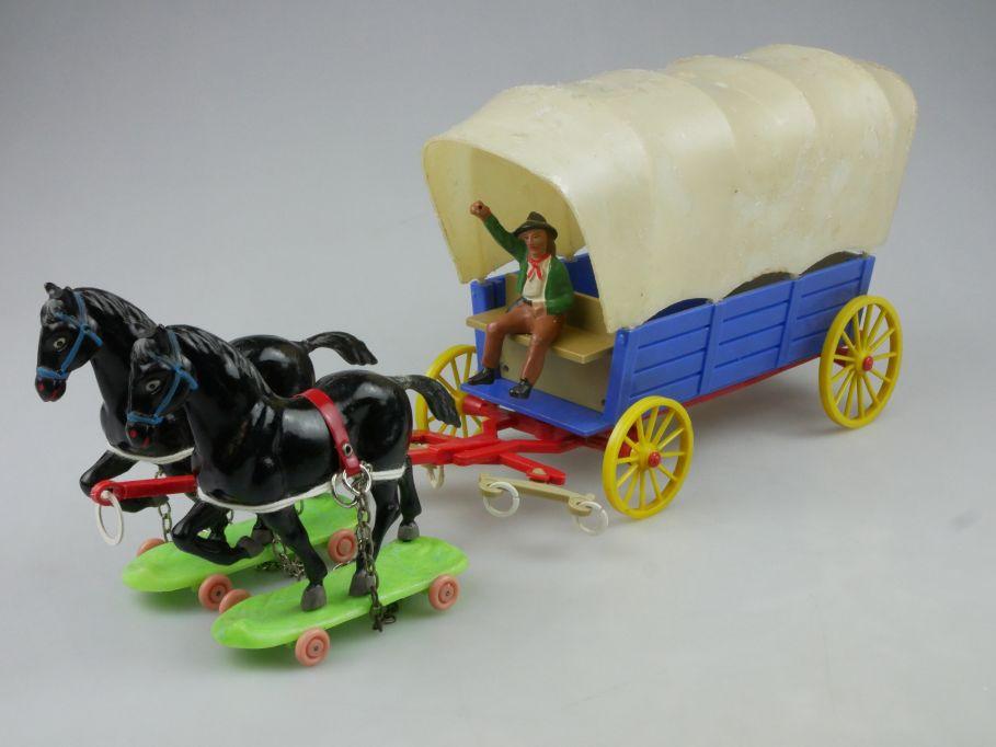 DDR Planwagen Western Cowboy Kutsche Plastik Wildwest Lisanto 116772