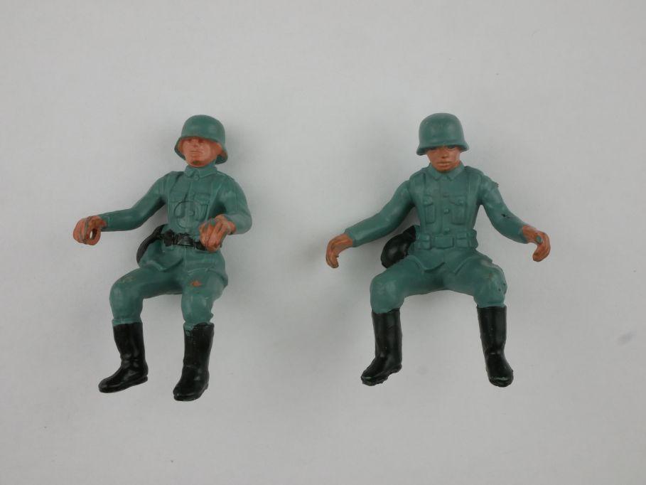 Britains deetail Wehrmacht Krad Motorrad Fahrer Soldaten Ersatzteile 116825