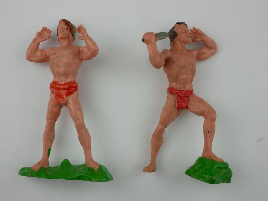 Wundertüte Heinerle Manurba Tarzan 2 Figuren selten 8 cm 116826