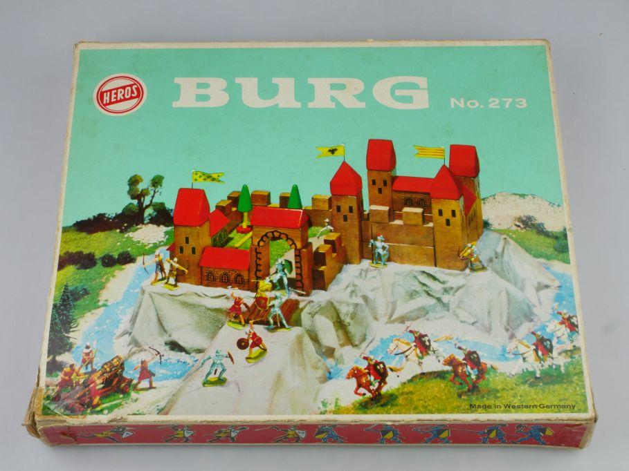 Heros 273 Burg OVP Holzteile Ritter W.Germany für z.B. Elastolin + Box 117338