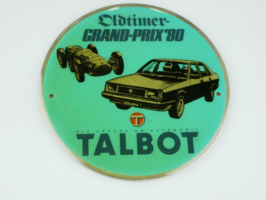 Oldtimer Grand Prix 1980 Talbot Edelstahl Medailie ohne Box 512351