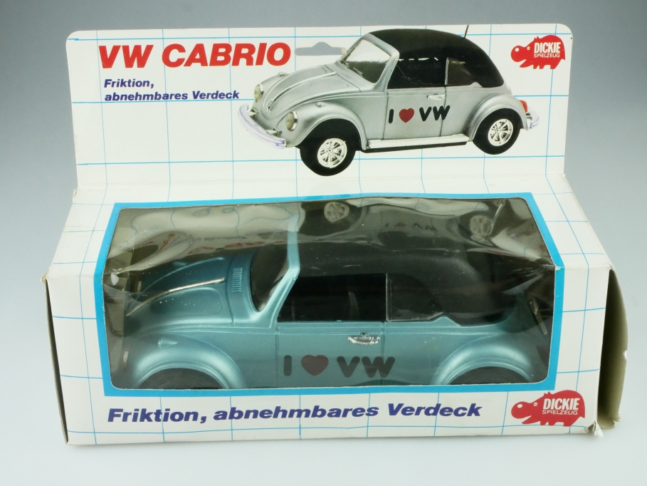 Dickie ca.1/18 VW Käfer Bug Beetle love Convertible Cabriolet blaumet Box 512366