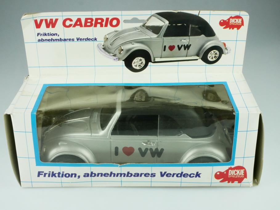 Dickie ca.1/18 VW Käfer Bug Beetle love Convertible Cabriolet silbermet  512367