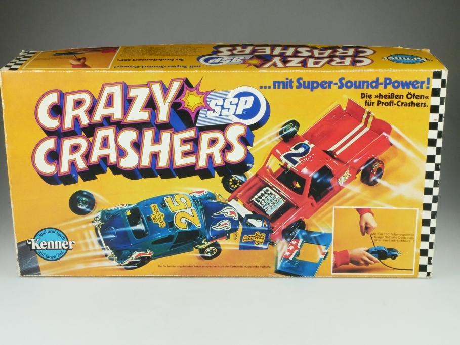 Kenner ca.1/24 VW Käfer & Pickup Crazy Crashers Demolition Game mit Box 512371