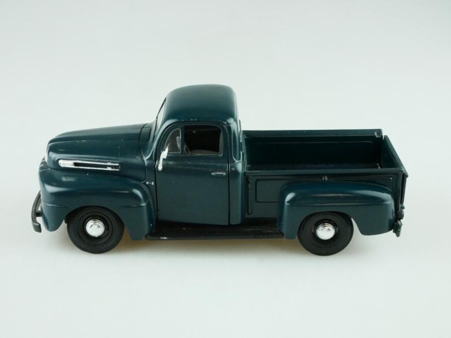 Maisto 1/24 1948er Ford F1 Pickup Truck mattdunkelgrünblau ohne Box 512374