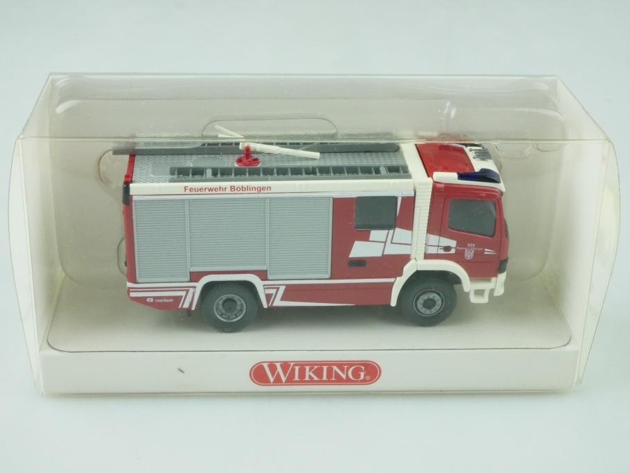 6120241 Wiking 1/87 Mercedes Benz Feuerwehr Rosenbauer RLFA mit Box 512388
