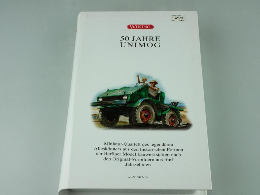 9902458 Wiking 1/87 Mercedes Benz Unimog 50 Jahre Jubiläumsedition Box 512401