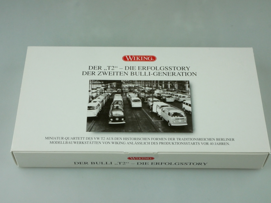 9905348 Wiking 1/87 VW T2 Transporter die Erfolgsstory Bulli mit Box 512410