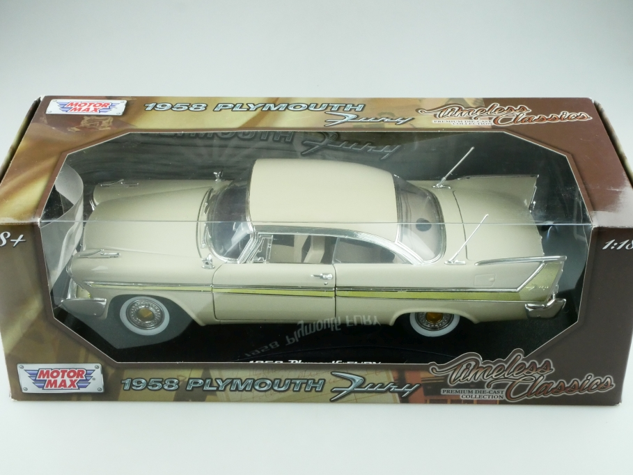 Motor Max 1/18 Plymouth Fury Hardtop Coupe 1958 mit Box 512416
