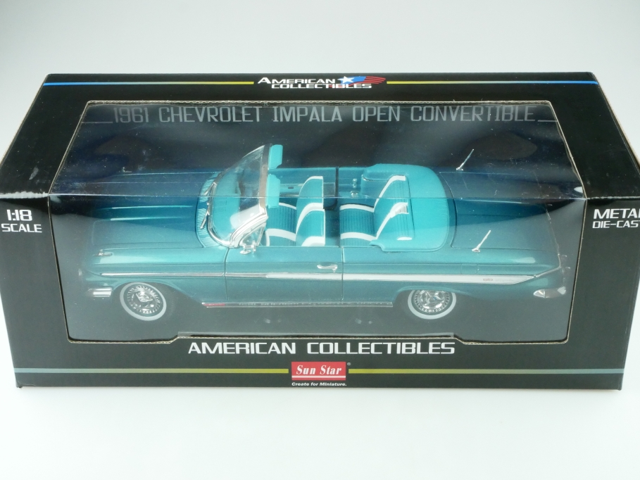 Sun Star 1/18 Chevrolet Impala Convertible 1961 Cabriolet mit Box 512419