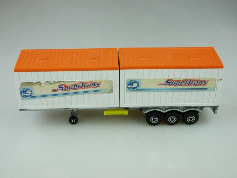 3000er Serie Majorette 1/55 Supertrans Container Auflieger für Bastler 512437