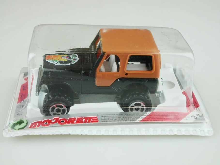 244 Majorette 1/53 Jeep Renegade CJ 5 Cobra schwarz black mit Box 512453