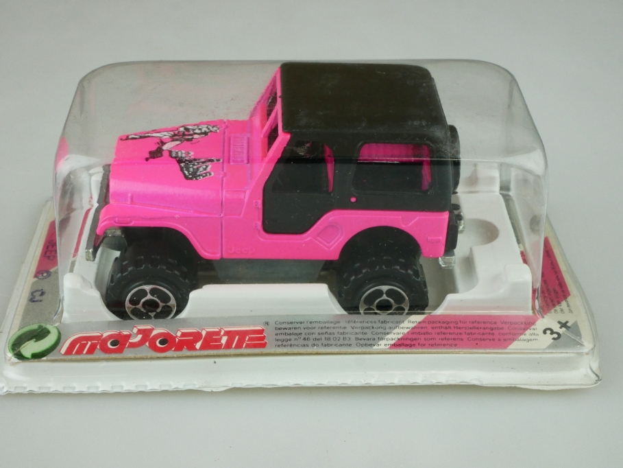 244 Majorette 1/53 Jeep Renegade CJ 5 Hardtop pink magenta mit Box 512454