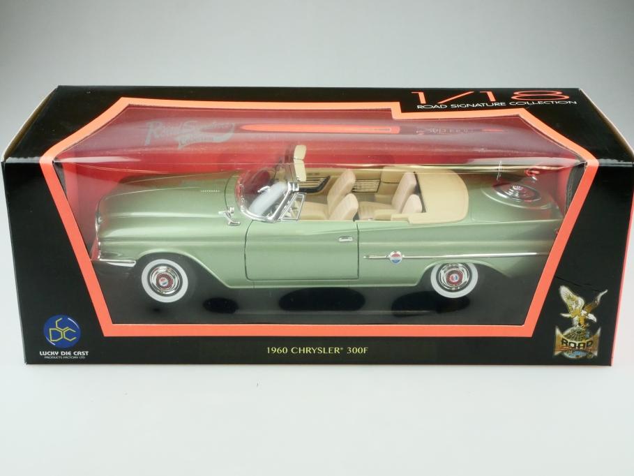 Road Signature 1/18 Chrysler 300 f Convertible 1960 greenmetallic mit Box 512460