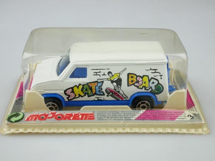 234 Majorette 1/65 Ford Fourgon Pub Van Skate Board selten mit Box 512462
