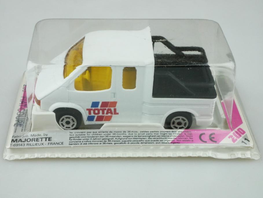 243 Majorette 1/65 Ford Transit Doka Pickup Total mit Box 512463