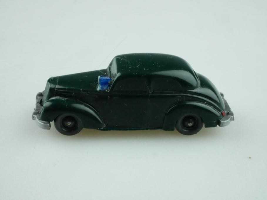 Saure 281 Wiking 1/87 Mercedes Benz 220 Polizei schwarzgrün unverglast 512484