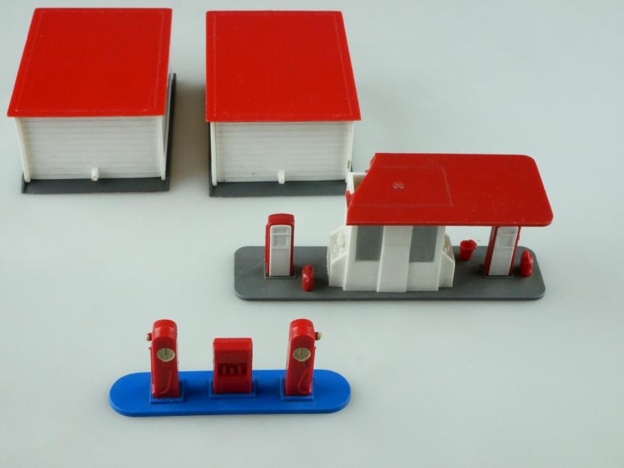Saure 1285 Wiking 1/87 Tankstellen 1288 Garagen Konvolut ohne Box 512505