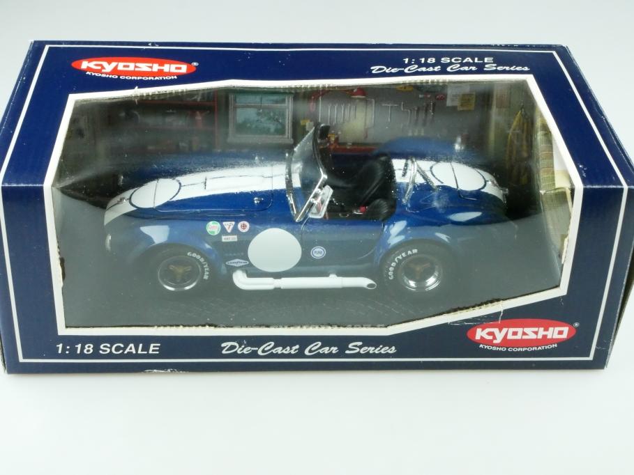 Kyosho 1/18 AC Cobra Shelby 427 Roadster Racing bluemetallic mit Box 512512