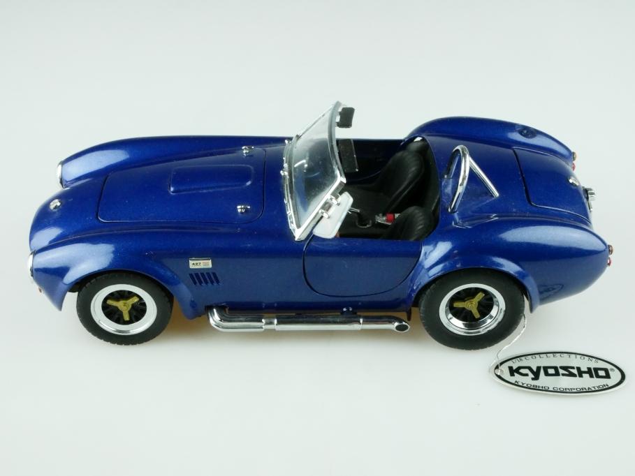Kyosho 1/18 AC Cobra Shelby 427 Roadster bluemetallic ohne Box 512513