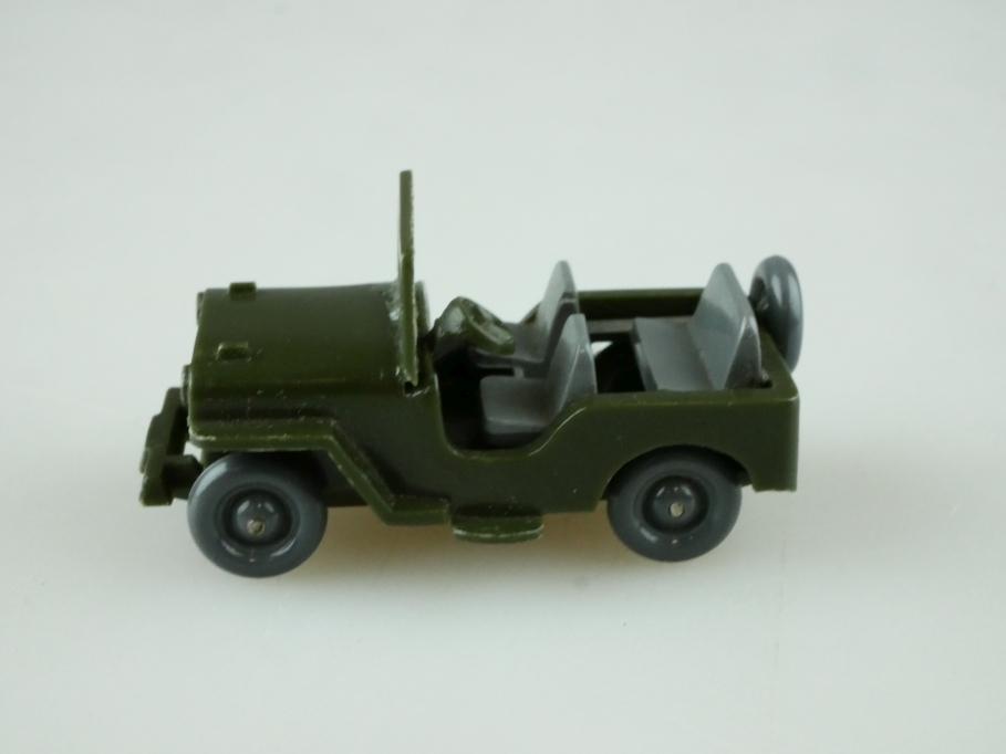 Saure 103 Wiking 1/87 Willys Jeep Typ 3 oliv basaltgrau unverglast o Box 512502