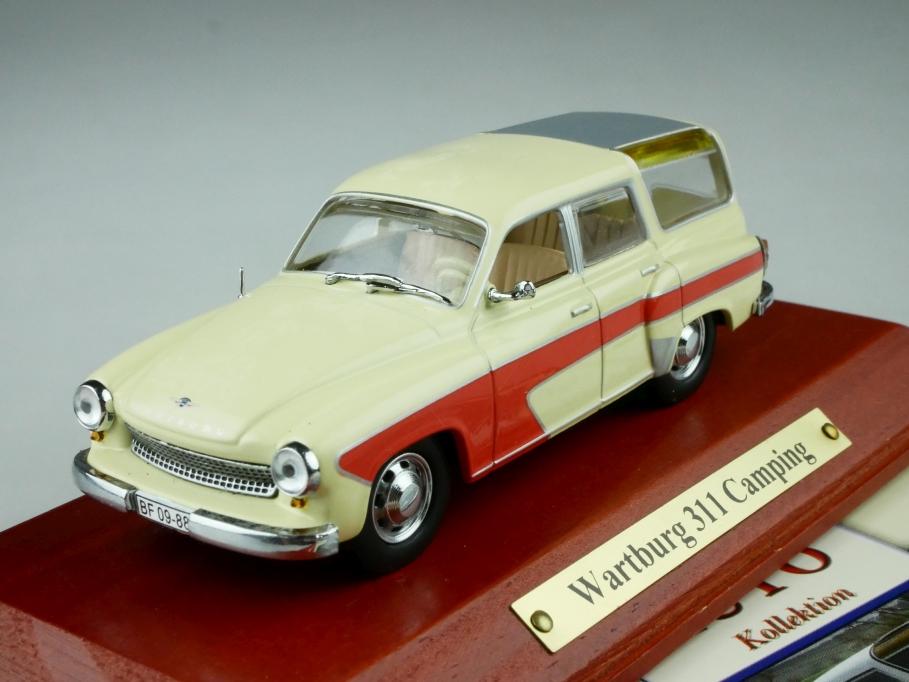Atlas 1/43 DDR Collection Wartburg 311 Camping Kombi 1957 mit Box 512540
