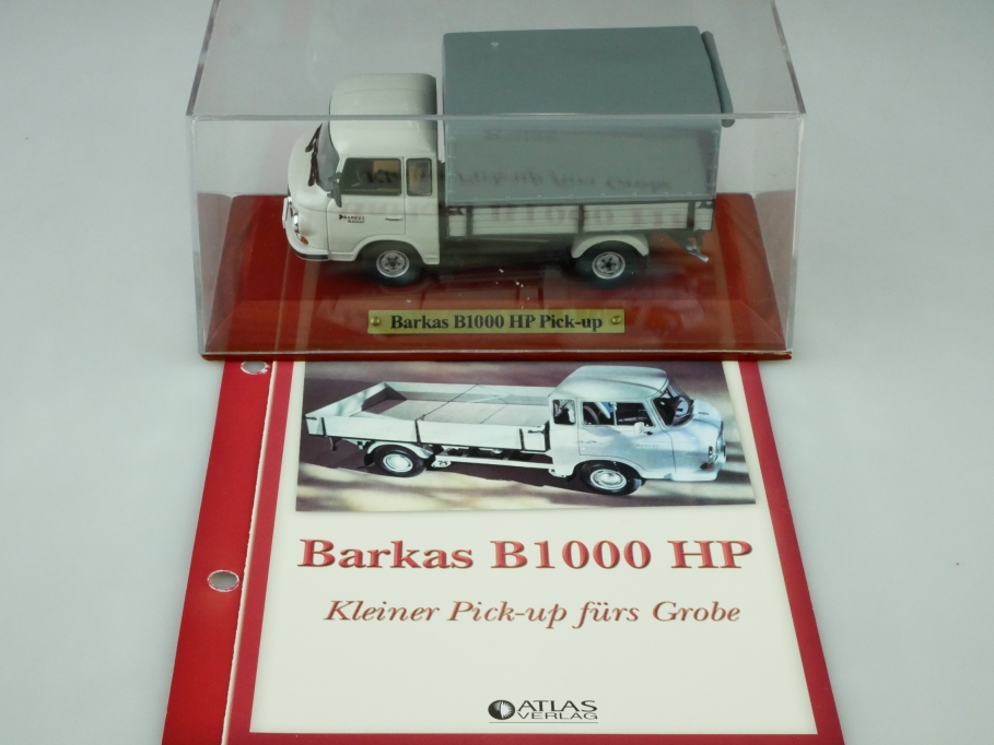 Atlas 1/43 DDR Collection Barkas B 1000 HP Pickup IFA Pritsche mit Box 512547