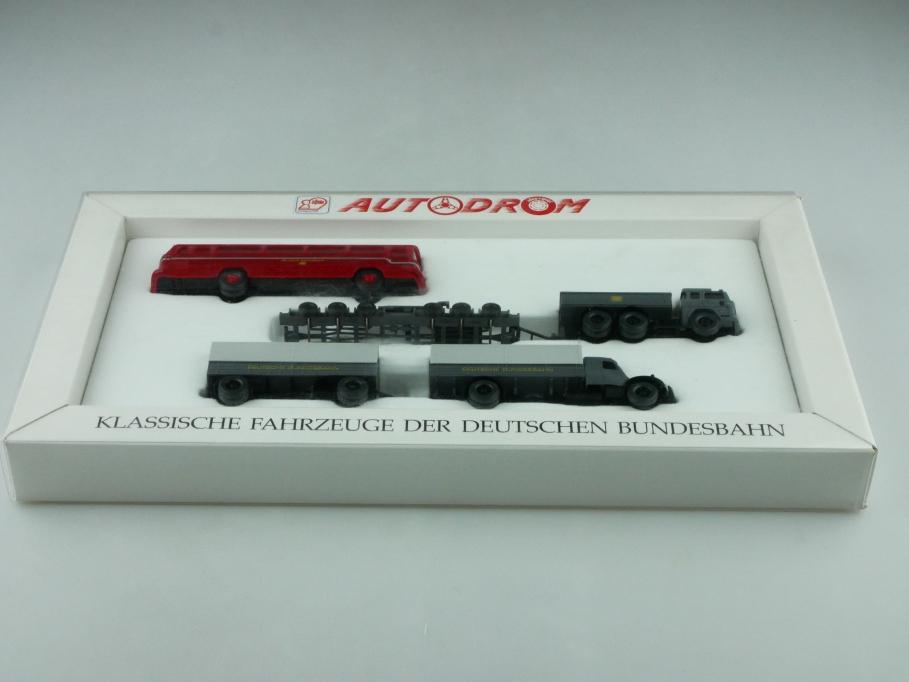 9900658 Wiking 1/87 Autodrom Klassische Fahrzeuge Bundesbahn mit Mercedes 512552
